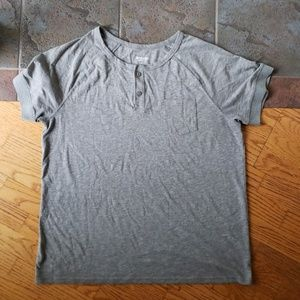 Massimo Grey Henley  Xl Gray Cheap